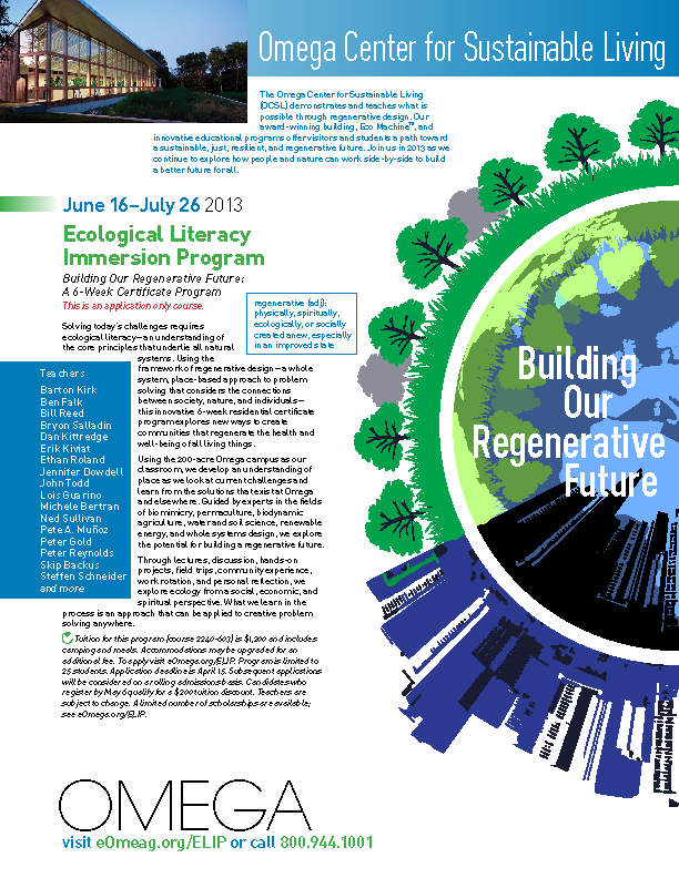 Ecological Literacy Immersion Program