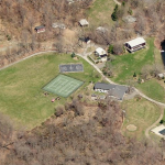 Birdseye view of Eden Village permaculture camp, Hudson River valley, USA